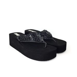 VINTAGE Bongo 90s Platform Foam Sandals Flower